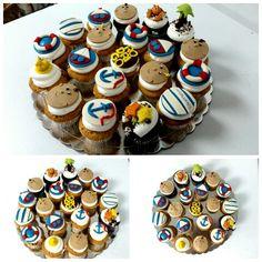 Cada celebración tiene un motivo para ser feliz #cupcakes #cupcakegourmet #marinero #marine #bakery #pasteleriaamericana #pantry #igersguayana #pzo #poz #pasteleria #ciudadguayana