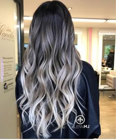 Trendy Hair Color : Grey ombre hair is one of the most influential recent color trends. - - Ihr Trend Trendy Hair Color : Grey ombre hair is one of the most influential recent color trends. Pick the one… - Site Today Cabelo Ombre Hair, Grey Ombre Hair, Brown Blonde Hair, Blonde Ombre, Hair Color Balayage, Blonde Highlights, Haircolor, Bayalage, Brown To Grey Hair