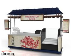 A full-frontal view of Ikoniq's sushi kiosk for the Washington Nationals ballpark.