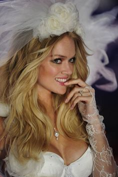 Model Lindsay Ellingson looks like a real bride on the runway at the 2012 Victoria's Secret Fashion Show! Her engagement ring and necklace are both by TWO by London and available now! Will you be watching the show on Dec. 4th on CBS?