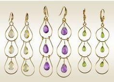 Cascading Amethyst Briolette Earrings
