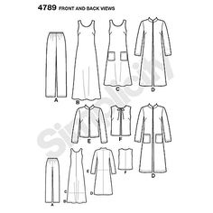 Buy Simplicity Easy to Sew Wardrobe Elements Sewing Pattern, 4789 Online at johnlewis.com