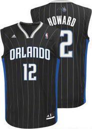 NBA Orlando Magic Dwight Howard #12 Black Adidas Jersey