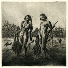 Afternoon in the Dove Field by Gordon Allen - Etching and Drypoint