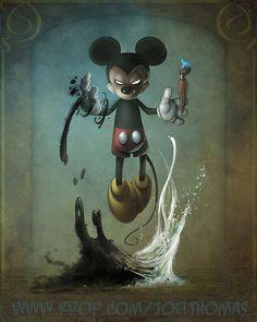 Creepy Kingdom – Graffiti World Disney Horror, Evil Disney, Horror Art, Zombie Disney, Princesas Disney Zombie, Character Art, Character Design, Epic Mickey, Disney Mickey