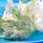 Tartare de daurade citronnée - une recette Poisson - Cuisine