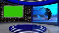 News Tv Studio with Virtual Stock Footage Video Royalty-free) 1032877817 Green Screen Video Backgrounds, New Backgrounds, Video Clips, Hd Video, Chroma Key Verde, Free Green Screen, Episode Interactive Backgrounds, Virtual Studio, Studio Background Images