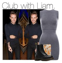 """""""Club with Liam."""" by cheekyxtommo ❤ liked on Polyvore featuring Casetify and Dr. Martens"""