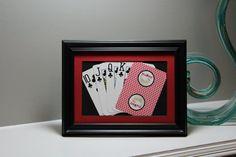 Palms Playboy Club Las Vegas 5x7 Flush Clubs Authentic Playing Card Display by SinCityDisplays