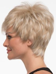 Perruque Cheveux Humain 2017 New Arrival Full Lace Human Hair Wigs Top Quality Glueless Brazilian Blonde With Bangs Short Wig Short Wigs, Short Pixie, Short Hair Cuts, Short Hair Styles, Pixie Cuts, Short Afro, Side Swept Bangs, Light Blonde, Pixie Haircut