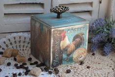 "Купить Коробок для кофе ""Доброе утро"" коробочка декупаж - короб для специй…"