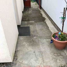 Here we have a patio installation carried out with a finished block paving surface on top of it.