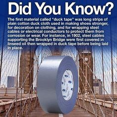 In 1902 Steel Cables Supporting The Brooklyn Bridge Were Wrapped Duck Tape Now