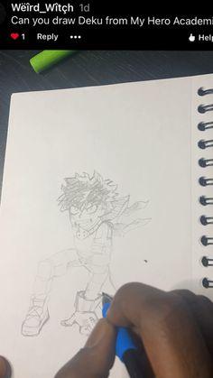 How to draw Deku my hero akademia