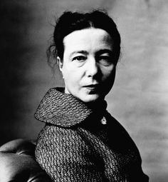 Simone de Beauvoir (Paris, 1957, by Irving Penn)