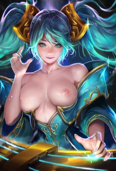 Sakimichan - More at https://pinterest.com/supergirlsart/ League of Legends #leagueoflegends #lol #sona #buvelle #female #champion #fanart #nude #sexy #hot #boobs #breasts