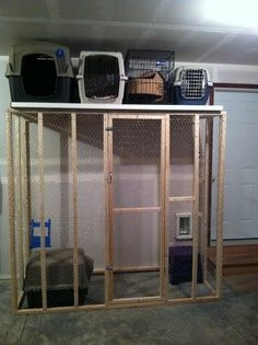 cat litter box in garage - Google Search