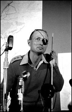 Burt Glinn, General Moshe Dayan giving a briefing during the 1956 Sinai War, Israel, 1956