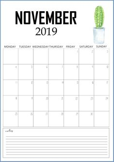 Get Latest and Awesome Collection of Cute November 2019 Calendar Printable Calendar in Floral and Pink Design. Free Printable Calendar Templates, Calendar 2019 Printable, Cute Calendar, Kids Calendar, Weekly Planner Printable, Print Calendar, Calendar Design, Monthly Planner, November Calendar 2019