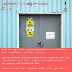 Mockler's Writing Prompts - Doors  #fiction #nonfiction #poetry #amwriting #writing #prompts