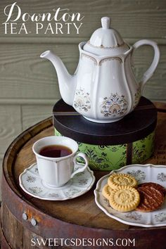 Downton tea party essentials- throw a festive downton inspired tea party this winter!