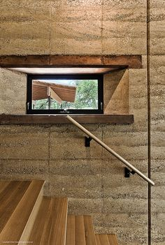 Rammed Earth Ranch - stair detail