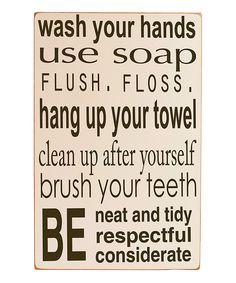 Bathroom Rules - cute for a family or kids washroom