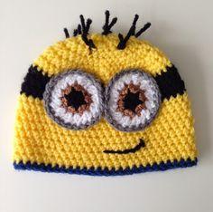 minion baby hat free pattern, gehaakt baby mutsje verschrikkelijke ikke gratis patroon