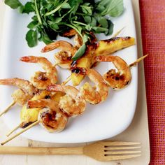 Rum-Glazed Shrimp and Mango