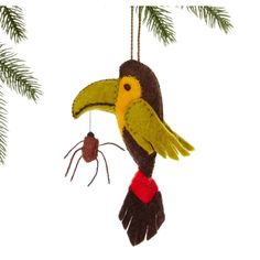 Global Crafts Handmade Felt Toucan Holiday Ornament