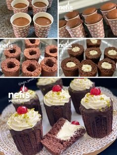 Mini Cupcakes, Cupcake Cakes, Cap Cake, Recipe Mix, Cheesecake, Muffin, Food And Drink, Sweets, Chocolate