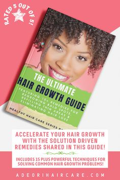 Accelerate your hair growth with the solution-driven remedies shared in The Ultimate Hair Growth Guide. Featuring 15 plus tried and tested techniques for solving bald spots, thinning, hair fall, and much more. #haircare #curlyhair #beauty #hair #hairstyle #hairstyles #haircare #curlyhair #beauty #hair #naturalhaircare #naturalhaircareinformation #naturalhaircarebooks #curlyhaircare #curlyhaircarereading #curlyhaircarebooks #hairgrowthinformation #curlyhairgrowth #blackhairgrowth Curly Hair Growth, Black Hair Growth, Healthy Hair Growth, Curly Hair Care, Hair Growth Oil, Curly Hair Styles, Natural Hair Styles, Bald Spot, Natural Haircare