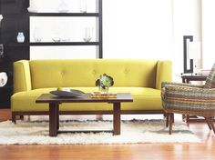 Lamare Sofa-Delight. Give me this in the Mariani Emerald fabric.
