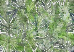 Carta da parati tropicale FITZCARRALDO By Tecnografica Italian Wallcoverings design Marco Fontana Mosaic Wallpaper, Tropical Wallpaper, Vinyl Wallpaper, Jungle Love, Tropical Style, Interior Design Studio, Office Interiors, Designer Wallpaper, Mosaic Tiles
