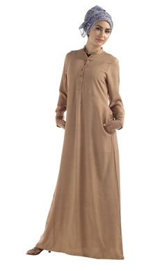 Long sophisticated RAYON abaya in popular colors. Shrug For Dresses, Hijab Style, Modest Wear, Shalwar Kameez, High Collar, Casual Wear, Chiffon, High Neck Dress, How To Wear
