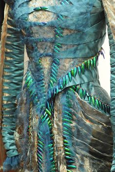 Colleen Atwood costume design for SWATH - I think she used iridescent beetle wings on this garment.