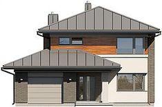 Projekt domu Kadyks 157,68 m2 - koszt budowy - EXTRADOM Gazebo, Shed, Outdoor Structures, House Design, Outdoor Decor, Home Decor, Kiosk, Decoration Home, Room Decor