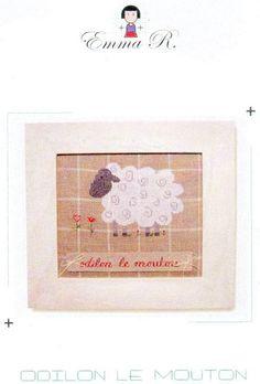 emma r-odilon le mouton Cross Stitch Collection, Frame, Home Decor, Sheep, Templates, Picture Frame, A Frame, Interior Design, Frames