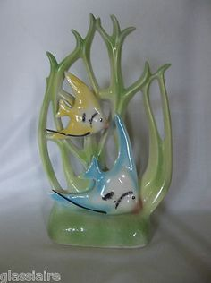 wonderful Vintage California Pottery Angel Fish
