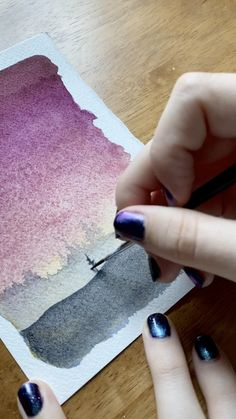 Watercolor sunsets Watercolor sunsets Kolbie Blume This Writing Desk kolbieblume Tutorials Love painting these textured gradient sunset skies Learn to nbsp hellip painting videos Watercolor Paintings For Beginners, Watercolour Tutorials, Watercolor Techniques, Watercolour Painting, Watercolor Illustration Tutorial, Watercolor Landscape Tutorial, Sunset Paintings, Watercolor Lesson, Canvas Painting Tutorials