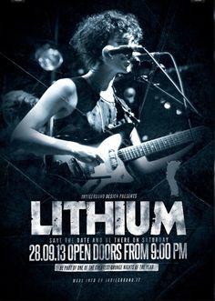 Alternative rock event flyer