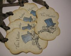 Vintage Style Mad Hatter Gift Tags