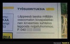 TYÖSUORITUKSIA - HAUSK.in Finland