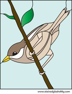 stained glass of a sparrow