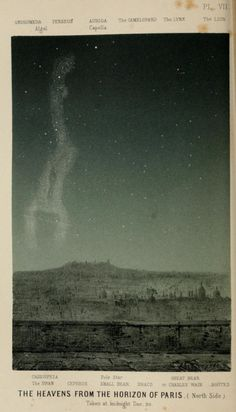 Plate VII. The heavens from the horizon of Paris. Midnight, Dec. 20.The heavens. 1867.