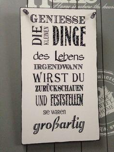"""""""GENIESSE""""Wandschild Deko Shabby Vintage Tafel Türschild in Möbel & Wohnen, Dekoration, Schilder & Tafeln   eBay"""