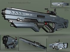 I love guns especialy the sniper rifle Anime Weapons, Sci Fi Weapons, Weapon Concept Art, Fantasy Weapons, Weapons Guns, Guns And Ammo, Armor Concept, Sci Fi Waffen, Rpg Cyberpunk