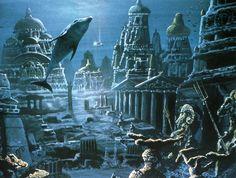 A los pintores y compositores de canciones les gusta describir a la Atlantis como una ciudad hundida que pudiera ser fácilmente habitada como si no estuviera bajo del agua. Desafortunadamente la destrucción fue más severa que eso. Solo las extremadamente fuertes y resistentes a terremotos pirámides a veces sobrevivieron a la destrucción