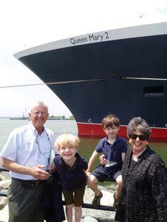 Helen Meserve's grandchildren were in New York to say goodbye before her recent Transatlantic Crossing with her husband.