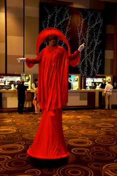 red stilts costume, www.noveltyent.com